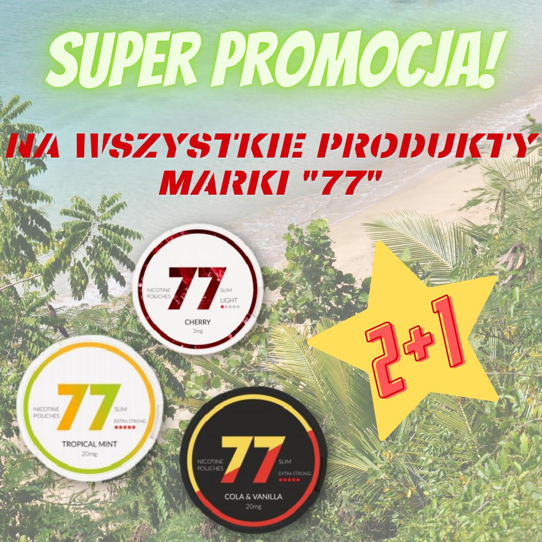 Na wszystkie produkty marki 77